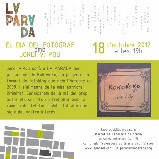 """""""el dia del fotògraf"""" amb Jordi V. Pou"""