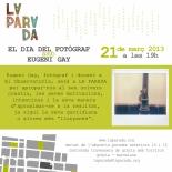 flyer Eugeni Gay a El dia del fotògraf