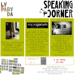 flyer speaking corner 9 de març