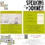 Flyer Speaking Corner 19 octubre