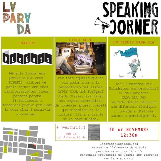 Speaking Corner La Parada 30 novembre