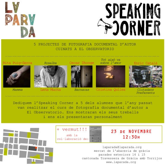flyer SPEAKING 23 de novembre