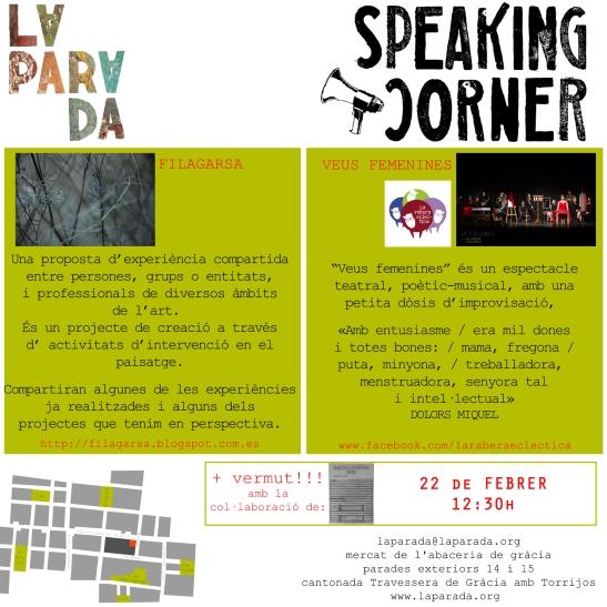 Speaking Corner La Parada 22 febrer 2014