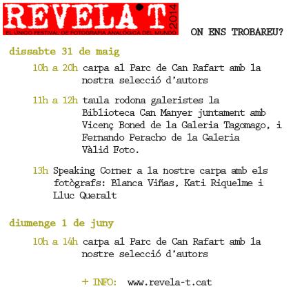 festival revela't 2014